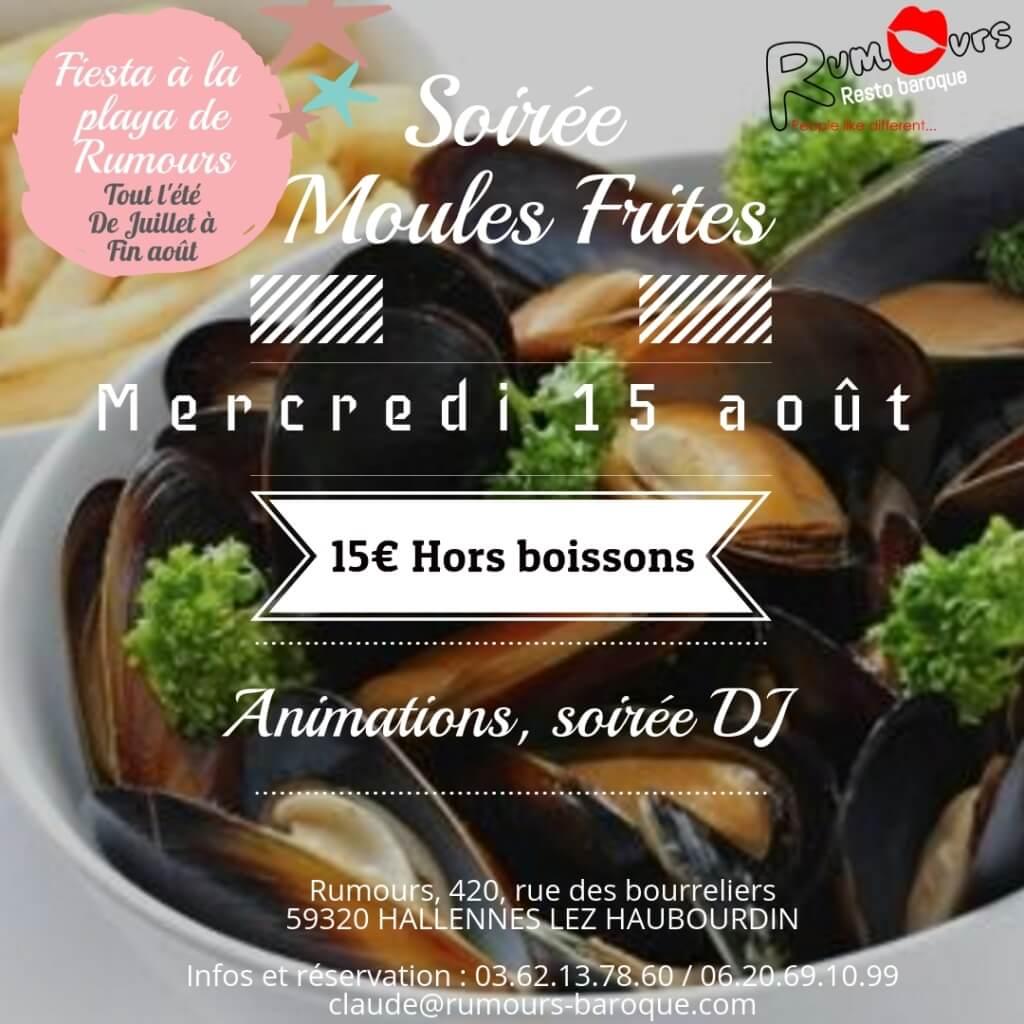 Moules Frites 15 août